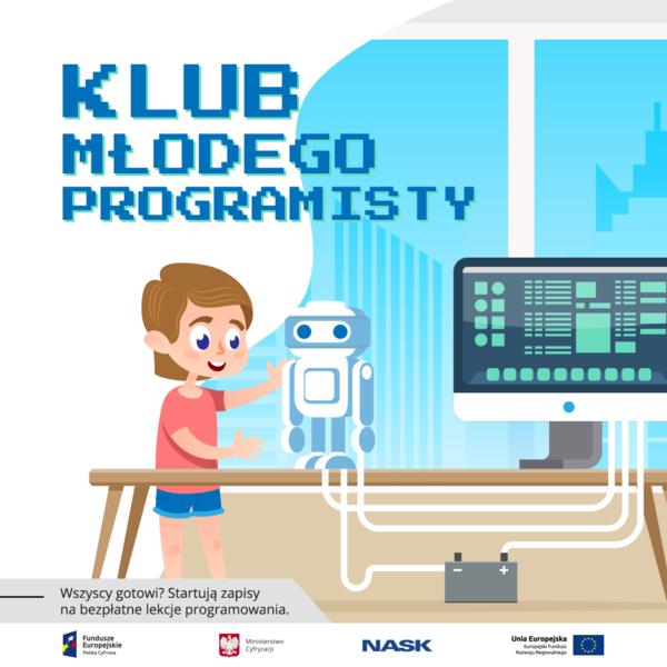 Klub Młodego Programisty! Bezpłatne warsztaty online